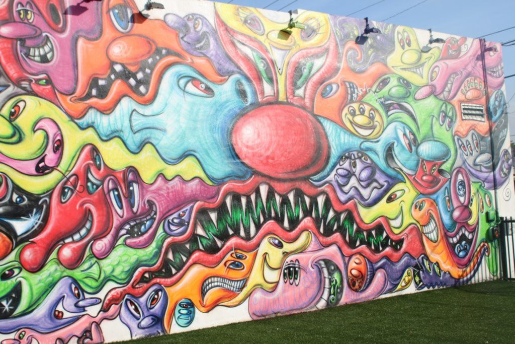 Kenny Scharf Wynwood Mural